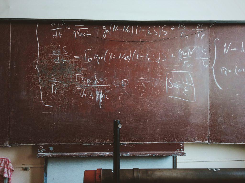 unsplash chalkboard equations